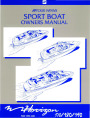1998-1999 Four Winns Horizon 170 180 190 Sport Boat Owners Manual page 1