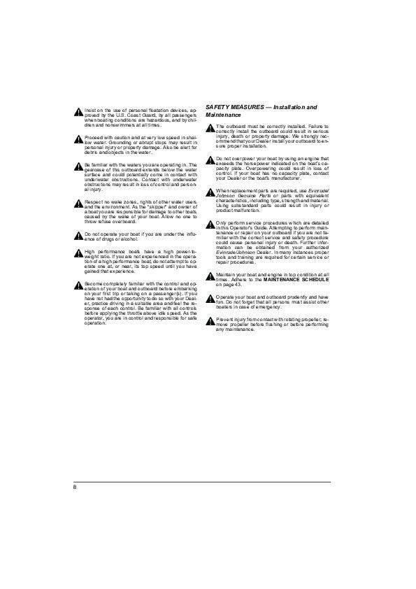 evinrude etec 90 owners manual